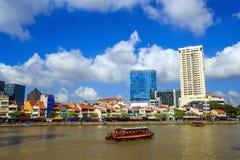 Набережная Кларка, Сингапур Стоковая Фотография RF