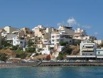 Набережная на ажио Nikolaos, Крите, Греции Стоковые Изображения RF