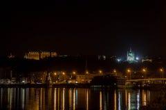 Набережная ночи в Киеве Стоковая Фотография RF