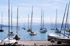 Набережная озера Цюрих, Швейцарии Стоковая Фотография