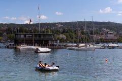 Набережная озера Цюрих, Швейцарии Стоковое Изображение
