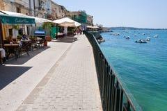 набережная Сицилия syracuse стоковые изображения