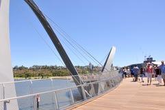 Набережная Элизабета: Висячий мост Стоковое фото RF