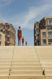 Набережная IJssel на Doesburg, Нидерландов Стоковая Фотография RF