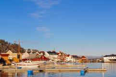 Набережные порта опорожняют в зиме Стоковые Изображения RF