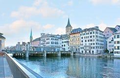 Набережные Цюриха стоковое фото rf