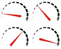 Наберите, шаблоны метра с красной потребностью и комплект блоков на 4 этапах, l иллюстрация штока