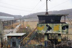 Наблюдательный пункт Кореи парка Imjingak стоковое изображение rf