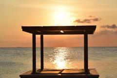 наблюдать захода солнца стоковые фотографии rf