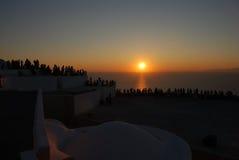 наблюдать захода солнца 2 людей Стоковые Изображения RF