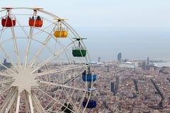 Наблюдать катит внутри парк атракционов Tibidabo, Барселону Стоковое фото RF