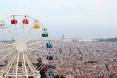 Наблюдать катит внутри парк атракционов Tibidabo, Барселону Стоковые Изображения RF