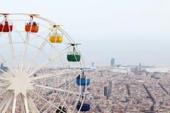 Наблюдать катит внутри парк атракционов Tibidabo, Барселону Стоковые Фотографии RF
