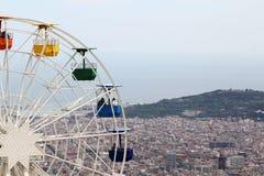 Наблюдать катит внутри парк атракционов Tibidabo, Барселону Стоковое Фото