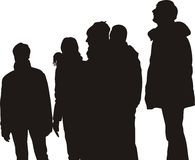 наблюдать людей группы Стоковая Фотография