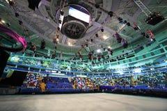 наблюдать телезрителей ледового представления Стоковая Фотография RF
