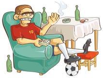 наблюдать футбола иллюстрация штока