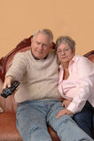 наблюдать tv старшиев стоковые изображения rf