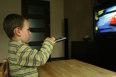 наблюдать tv Стоковые Фото