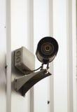 Наблюдение камеры на стене здания Стоковые Изображения