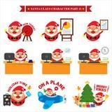 Наборы символов Санта Клауса Стоковое Изображение RF