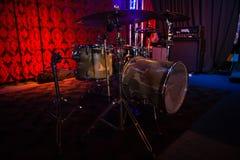 Набор барабанчика в студии звукозаписи Стоковые Изображения RF