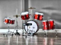 Набор барабанчика для детей снятых в HDR Стоковая Фотография RF