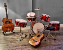 Набор барабанчика для детей снятых в HDR Стоковое Изображение