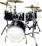 Набор барабанчика изолированный на белой предпосылке Стоковые Фотографии RF