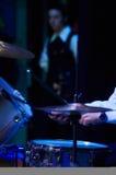 Набор барабанчика на концерте Стоковое Изображение
