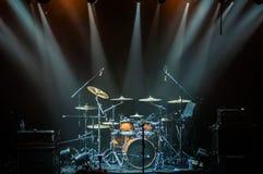 Набор барабанчика на этапе Стоковые Изображения