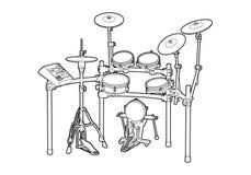 Набор барабанчика Стоковое Изображение