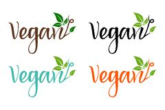 Набор био eco красочный для компании, производящ продукты vegan бесплатная иллюстрация