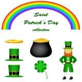 Набор вектора дня St. Patrick иллюстрация вектора