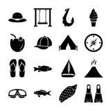 Набор векторов острова твердый иллюстрация вектора