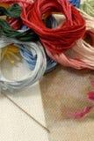 набор вышивки стоковое фото rf