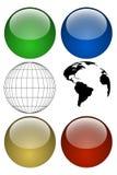 набор глобуса Стоковые Фотографии RF