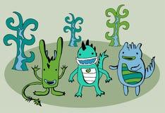набор драконов смешной бесплатная иллюстрация