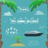 Набор летних отпусков Стоковые Фото