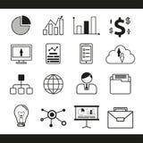 Набор значка бизнес-линии, иллюстрация вектора иллюстрация вектора