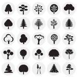 Набор значка деревьев на предпосылке кругов для графика и веб-дизайна, современного простого знака вектора интернет принципиально иллюстрация штока