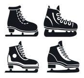 Набор значка коньков льда ботинка, простой стиль бесплатная иллюстрация