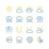 Набор значков вектора прогноза погоды бесплатная иллюстрация