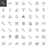 Набор значков границы временной рамки партии BBQ бесплатная иллюстрация