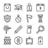 Набор значков пользовательского интерфейса иллюстрация штока