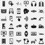 Набор значков регулировки компьютера, простой стиль иллюстрация штока