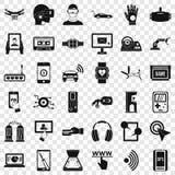 Набор значков регулировки экрана, простой стиль иллюстрация штока