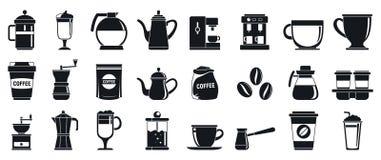 Набор значков Barista, простой стиль иллюстрация вектора