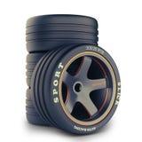 Набор колеса для гоночной машины Стоковые Изображения RF