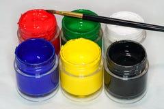 Набор краски стороны Стоковое Фото